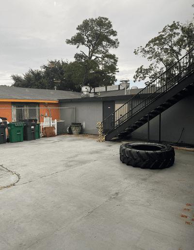 outdoor courtyard for hitt training