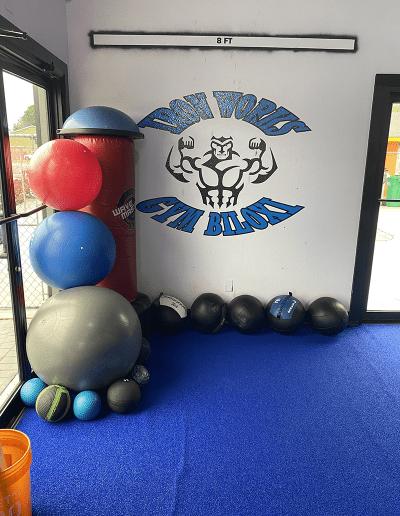 iron works gym in biloxi exercise balls